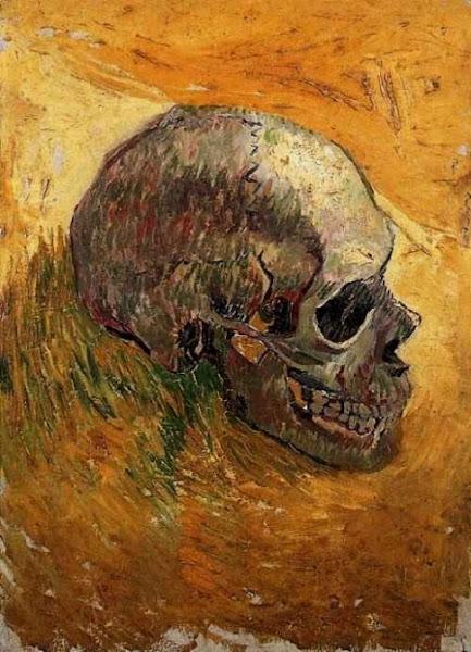 Skull by Vincent van Gogh, Macabre Art, Macabre Paintings, Horror Paintings, Freak Art, Freak Paintings, Horror Picture, Terror Pictures