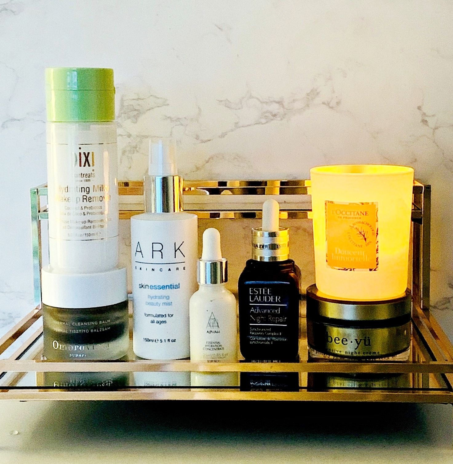 A week in my skincare routine for dry skin