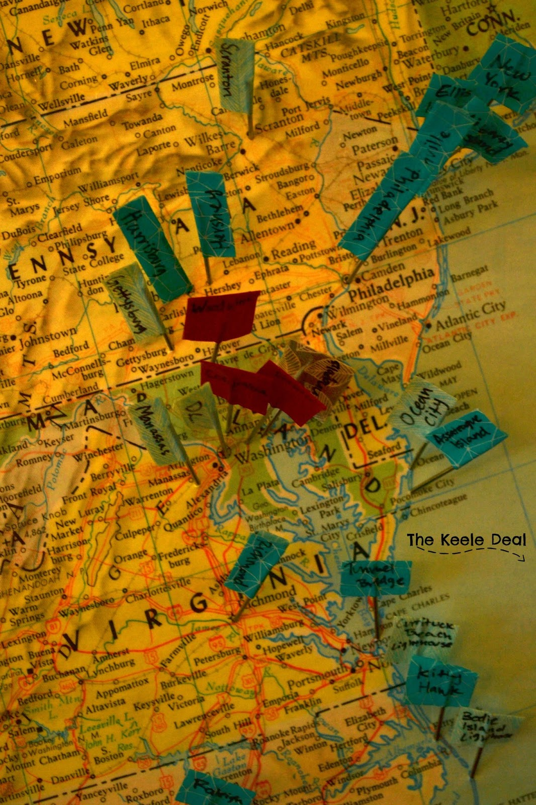 DIY Travel Map The Keele Deal - Places visited map