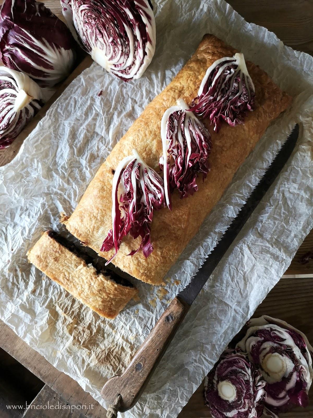 strudel salato con radicchio