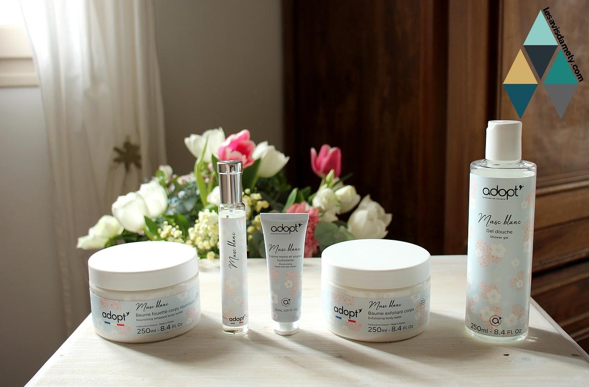 revue beauté gamme musc blanc adopt parfum