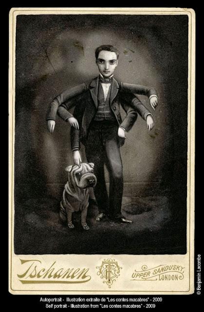 Benjamin Lacombe ilustración autoretrato