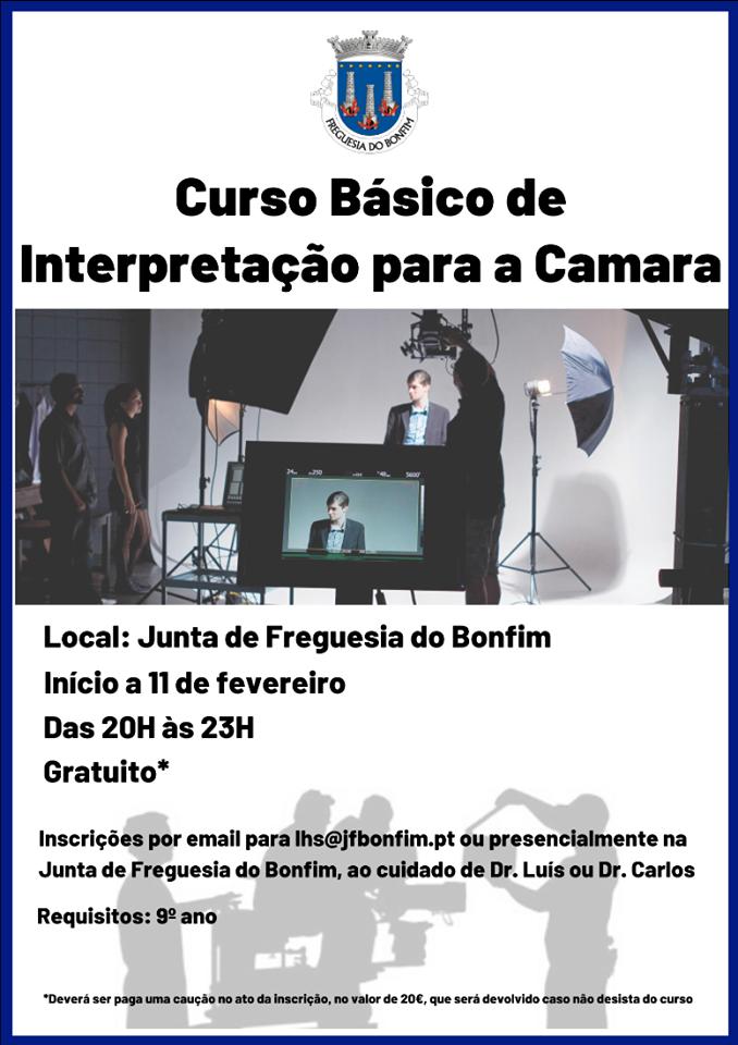 Curso Básico Gratuito de Interpretação para a Câmara – Porto