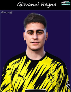 PES 2021 Faces Giovanni Reyna by Nimaesf
