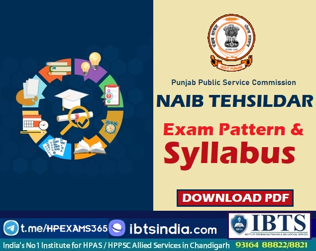 PPSC Punjab Naib Tehsildar Exam Pattern and Syllabus 2021 Pdf