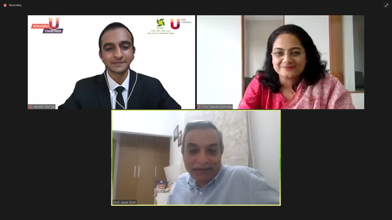 IIM Udaipur commences 09-day long virtual engagement and learning program