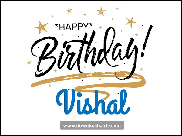 Happy Birthday Vishal Cake Images & Photos