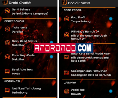 BBM Mod Droid Chat! Legend Of Fire v3.1.0.13 Apk Terbaru