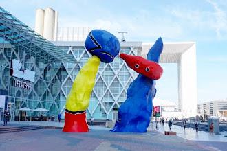 Art : Deux personnages fantastiques de Joan Mirò - 1976 - Esplanade de la Défense