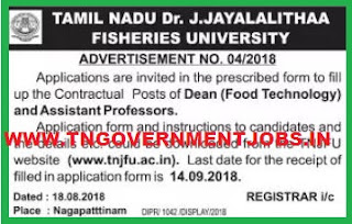 tamilnadu-dr-j-jayalalitha-fisheries-university-recruitments-deand-and-assistant-professor-jobs-notification-tngovernmentjobs