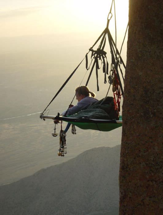 Overview Portaledge Camping Extreem Camp With Hanging