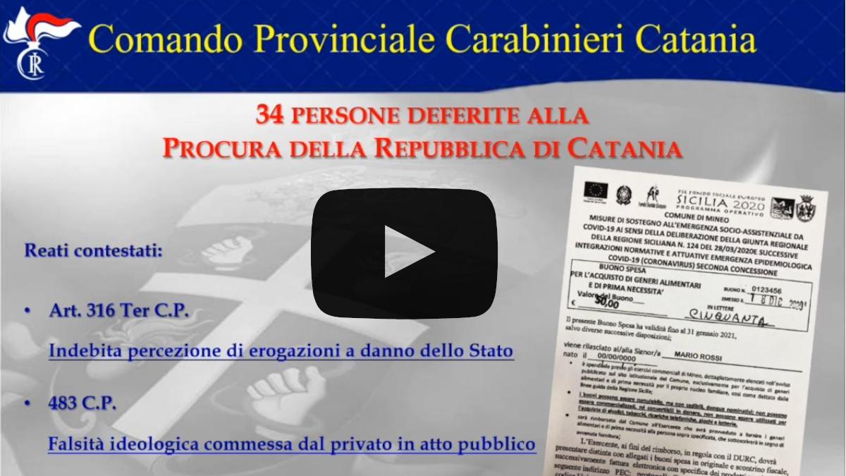 truffa allo stato Buoni spesa carabinieri