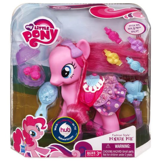 Mlp Fashion Style Pinkie Pie Brushable Figure Mlp Merch