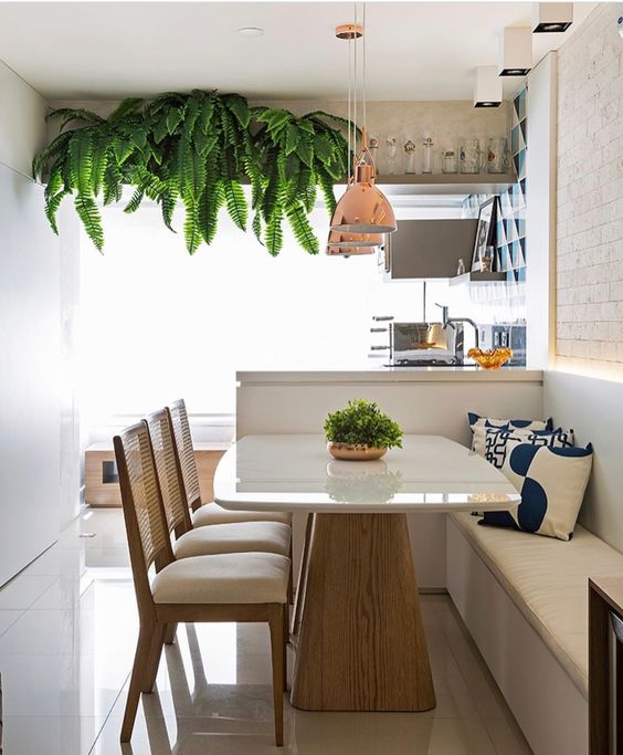 Sala de jantar...Uma forma charmosa, econômica e aconchegante de otimizar este ambiente