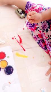 melukis dengan cat air