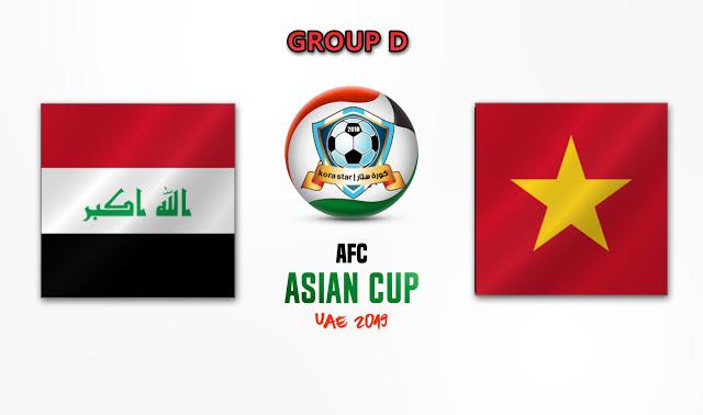 مباراة العراق وفيتنام  بتاريخ 08-01-2019 كاس امم اسيا