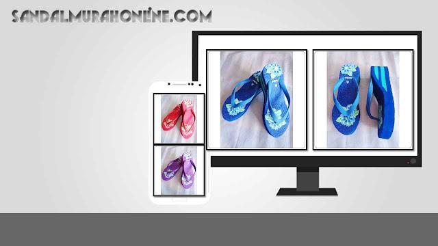 Pusat Toko Sandal Merlin ASLI Spon IMPORT Tebal Print