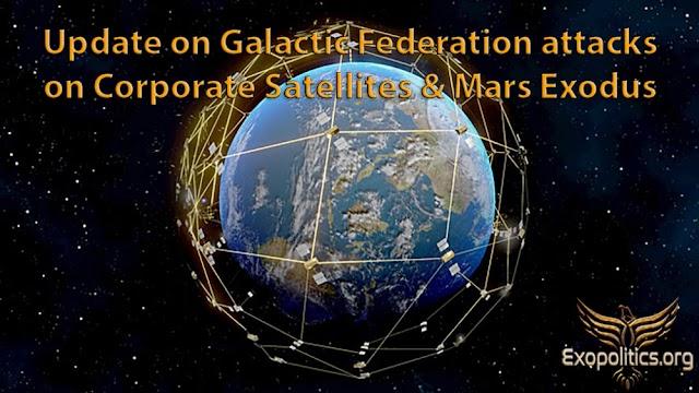 Actualización sobre los ataques de la Federación Galáctica a los satélites corporativos y el Éxodo de Marte