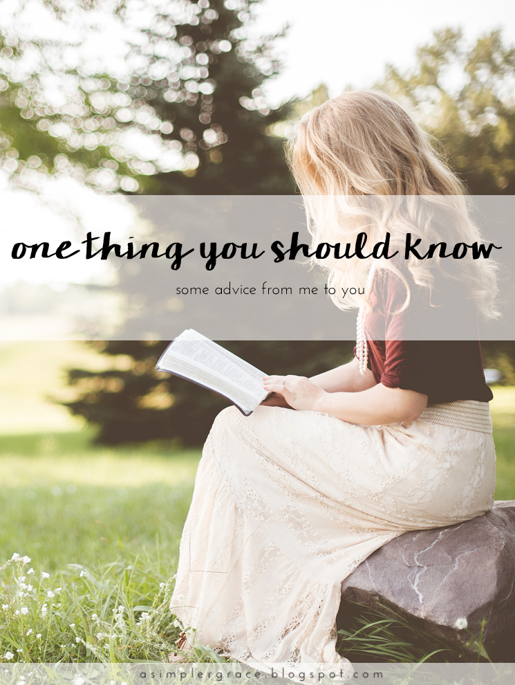 One Thing You Should Know | Blog-tember Day 20 #blogtemberchallenge