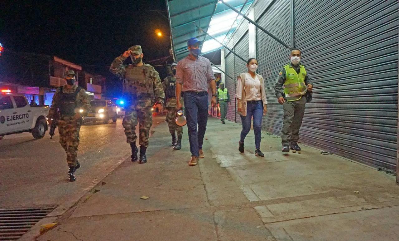 Ayer iniciaron las actividades de control al cumplimiento de las medidas de toque de queda y 'Ley Seca' en la ciudad de Villavicencio