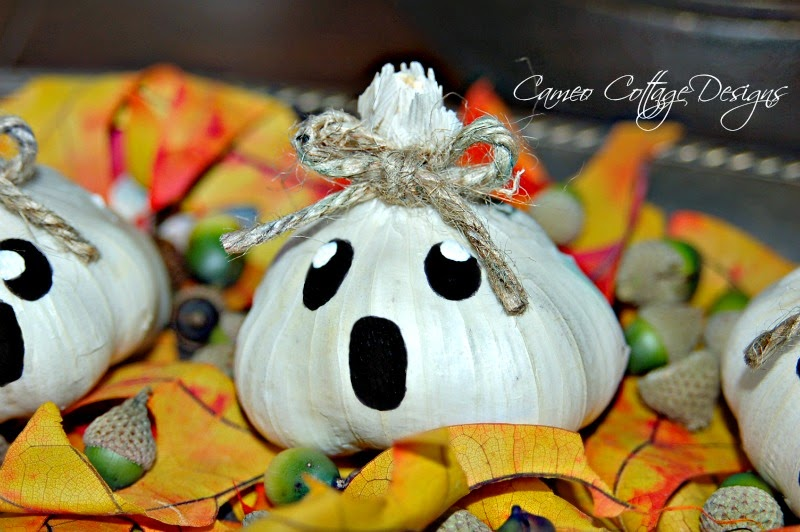 Garlic Ghost Pumpkins