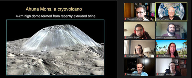 Observation of cryovolcano by Dawn Spacecraft (Source+: Hap McSween, Golden Webinar, 6/1/21)