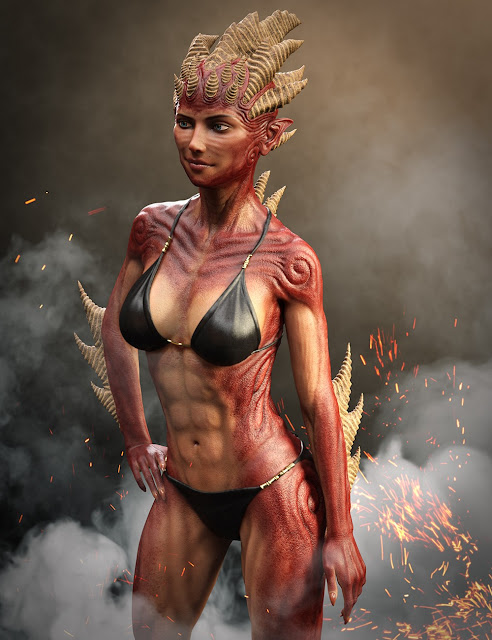 Hell Princess HD for Genesis 8 Female