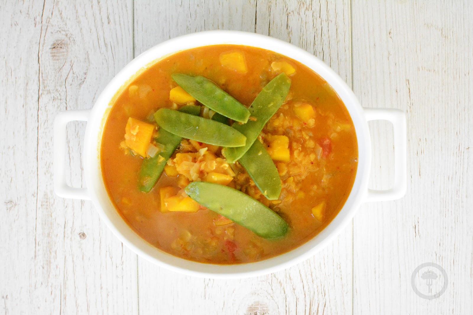 wegetariańskie curry z dynią