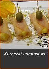 koreczki ananasowe