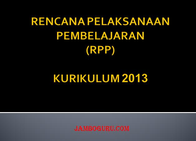 Pengertian RPP