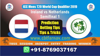 WC T20 Qualifier NED vs IRE Semifinal Match Prediction Today T20 World Cup Qualifier