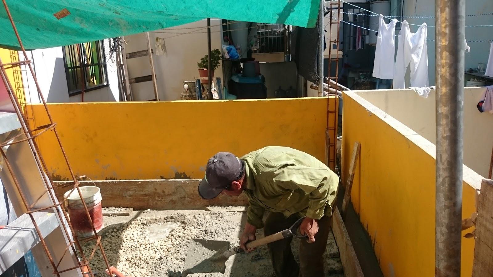 Mr Repara: Muros para barda en patio con losa de vigueta en salida ...
