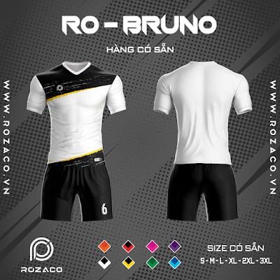 Áo Không Logo Rozaco RO-BRUNO Màu Trắng