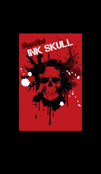 Deep Red INK SKULL