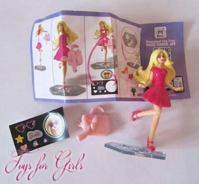 Кукла Barbie из киндера сюрприза. Коллекция Mattel Kinder Surprise Barbie 2016. Кукла в розовом платье с сумочкой.