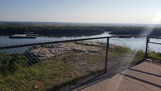 View across Mississippi River in Hannibal, MO