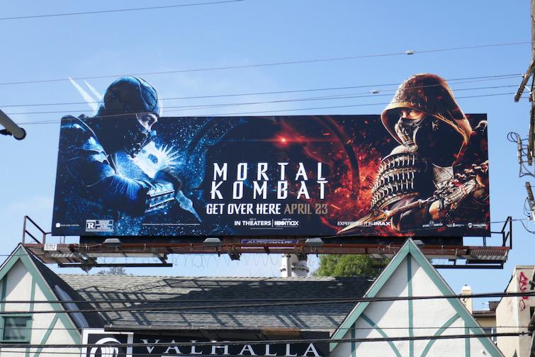 Mortal Kombat extension cutout billboard