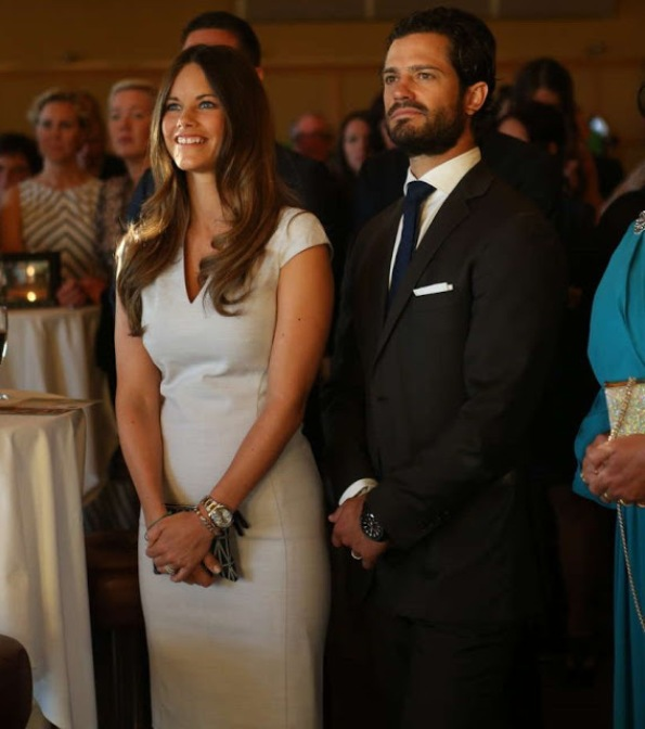Prince Carl Philip And Princess Sofia At A Charity Gala Dinner