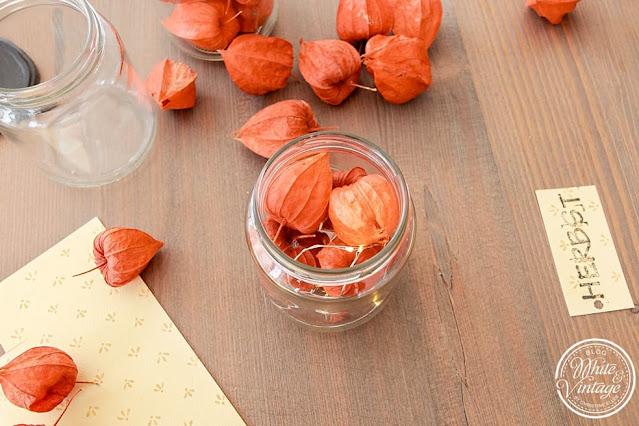 Kerzenständer für den Herbst basteln