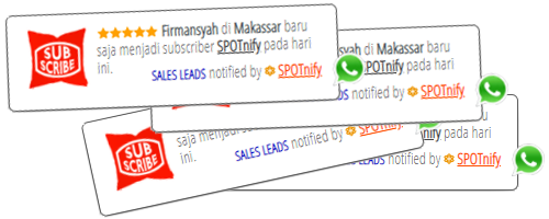 SPOTnify notifikasi para subscriber