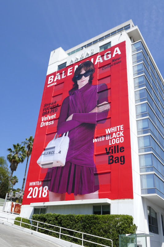 Giant Balenciaga Winter 2018 billboard