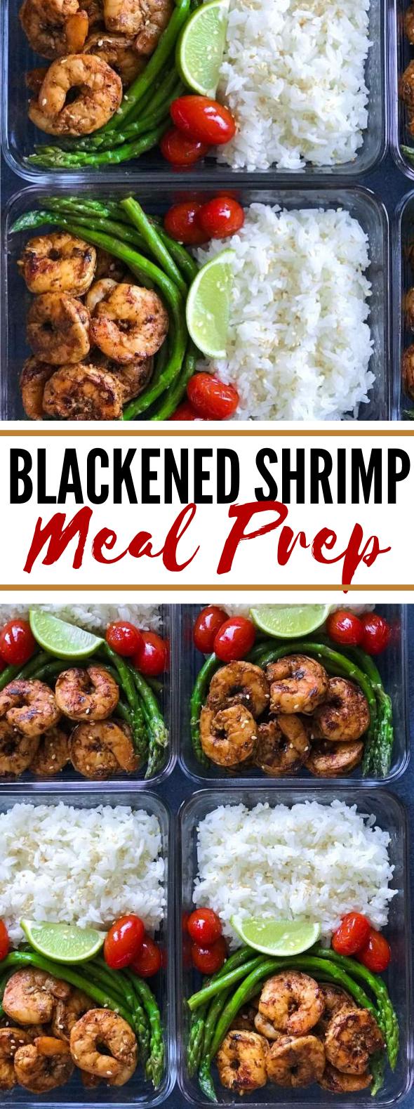 BLACKENED SHRIMP MEAL PREP #lunch #healthy