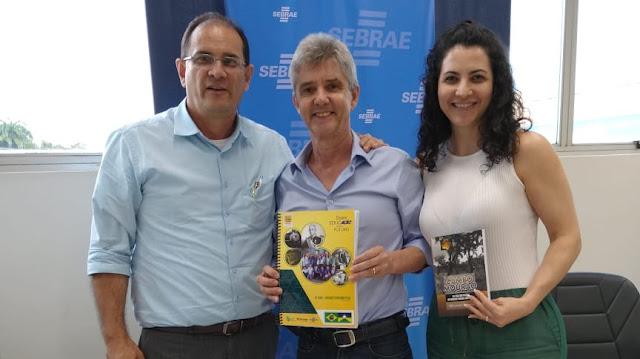 Diretoria do Sebrae recebe a visita de líder empresarial de Vilhena