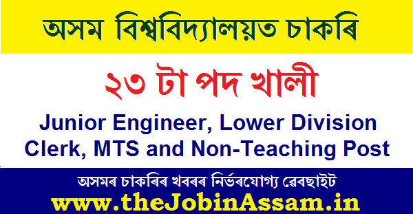 Assam University Recruitment 2020: Apply For 23 Non-Teaching Vacancies