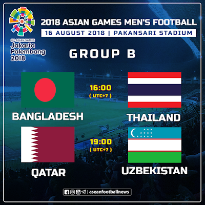 Live Streaming Bangladesh vs Thailand Asian Games 16.8.2018