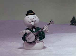 snowman playing banjo