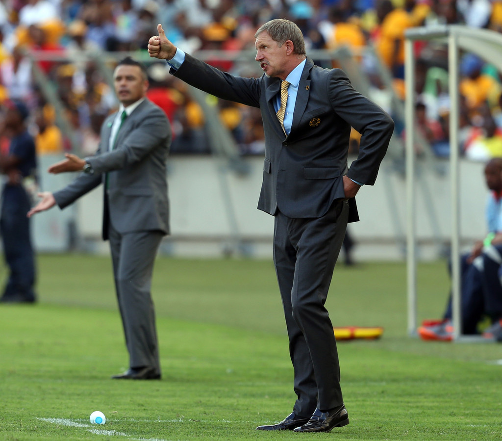 Head coach Stuart Baxter of Kaizer Chiefs during the Absa Premiership match between AmaZulu and Kaizer Chiefs at Moses Mabida Stadium on December 22, 2013 in Durban, South Africa