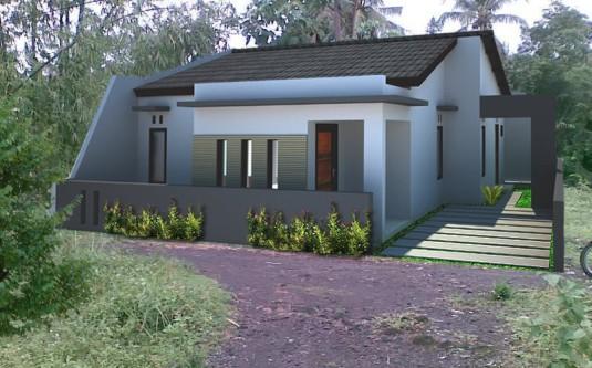 Sket Rumah Minimalis