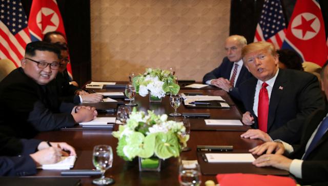 في لقاء استمر 45 دقيقه بين الرئيس الامريكي وزعيم كوريا الشماليه اهم ماتم الاتفاق عليه .