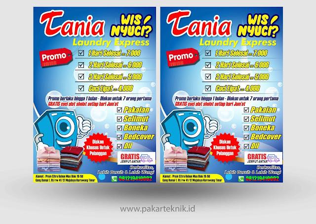 Download Brosur Laundry Format CDR